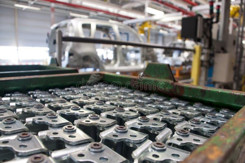 De automobiel industrievervaardiging stock afbeeldingen