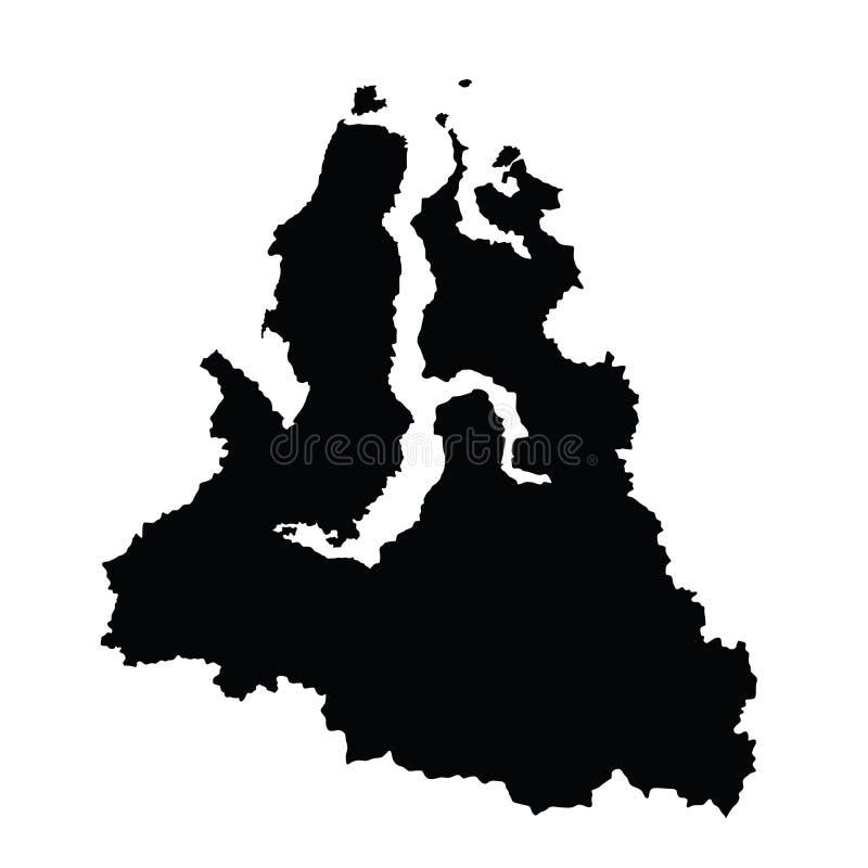 De Autonome Okrug kaart van yamalo-Nenets De kaartillustratie van Rusland oblast Kaart van Yamalo de nenetsky okrug royalty-vrije illustratie