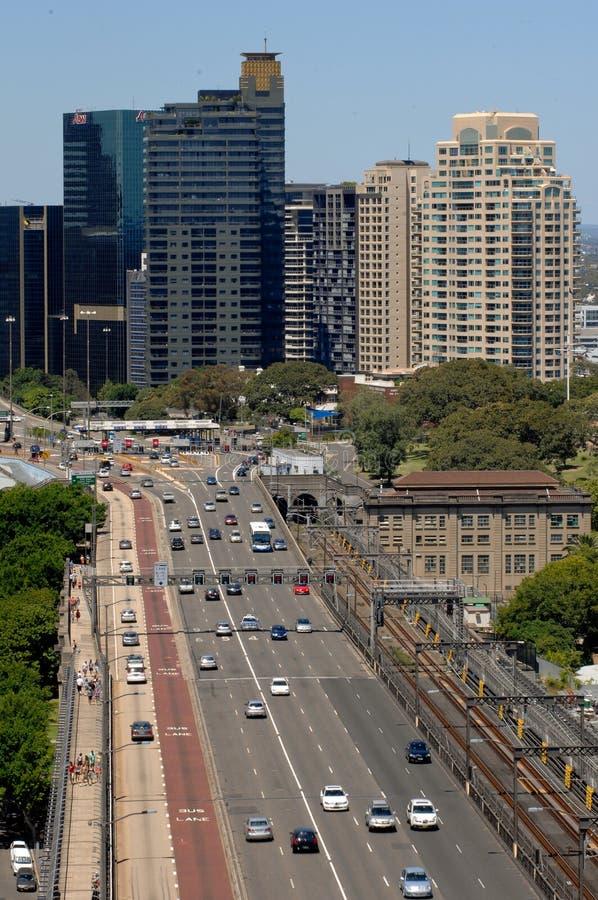 De Autosnelweg van de stad royalty-vrije stock afbeelding