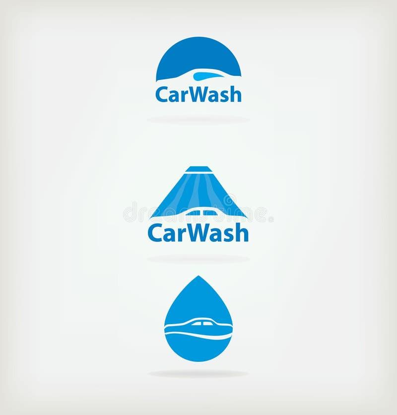 De autowasserette van het embleem royalty-vrije illustratie