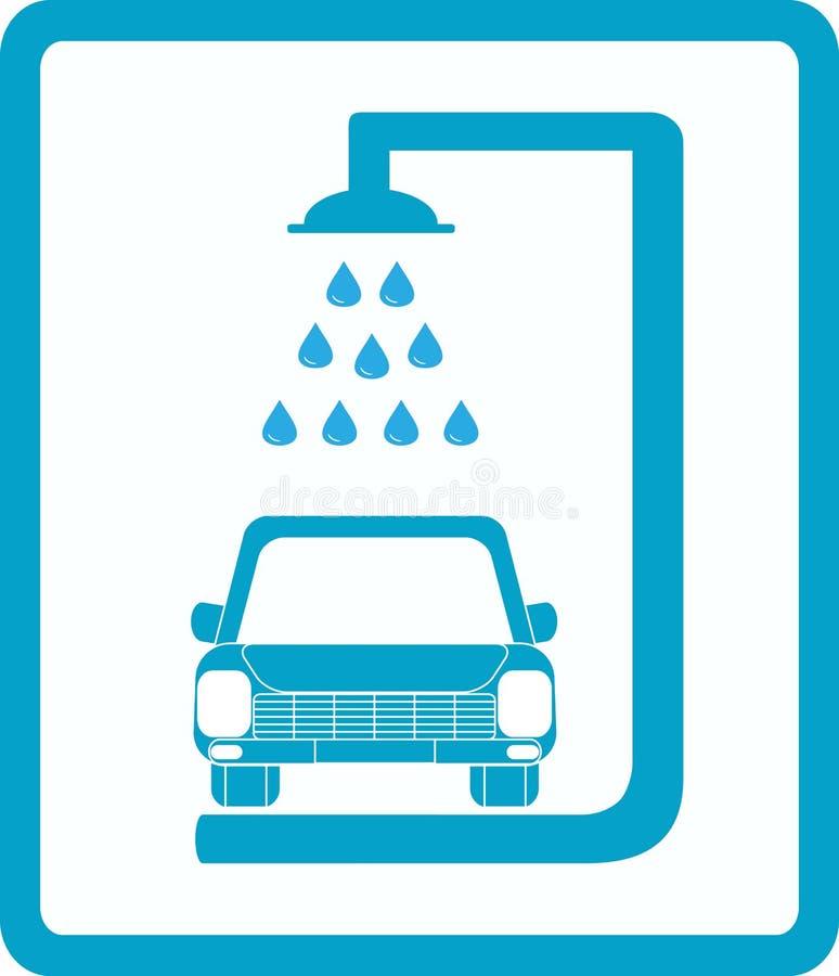 De autowasserette van het teken royalty-vrije illustratie