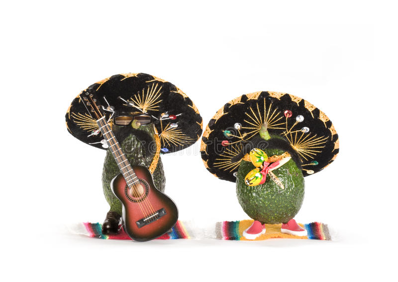 De Avocado's van Mariachi royalty-vrije stock afbeeldingen