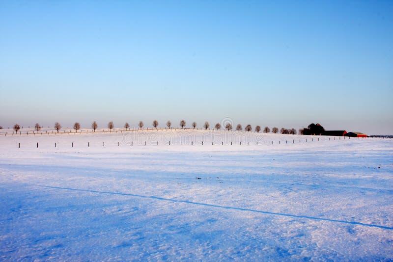 De Avond van de winter royalty-vrije stock fotografie
