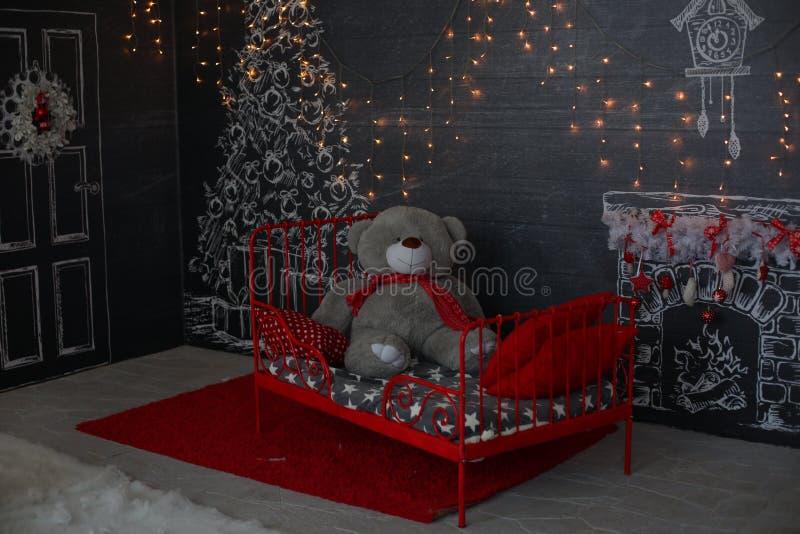 De avond van Kerstmis Het digitale schilderen royalty-vrije stock foto's