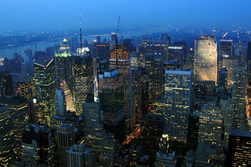 De avond van New York royalty-vrije stock afbeeldingen