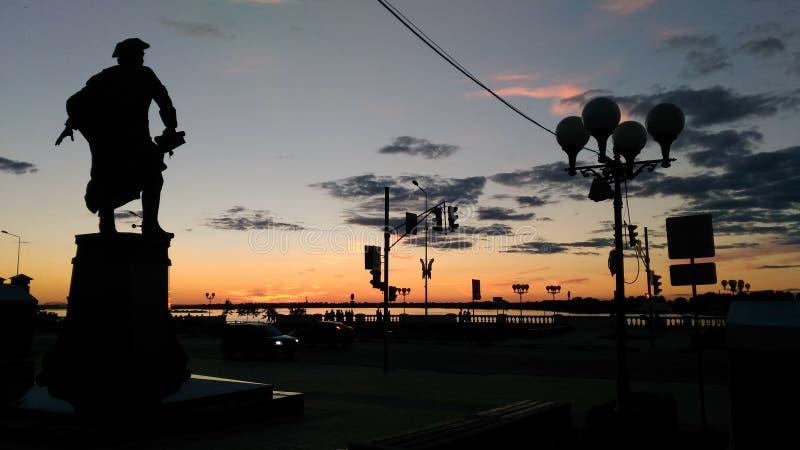 De avondreis van NizniyNovgorodrusland royalty-vrije stock afbeelding