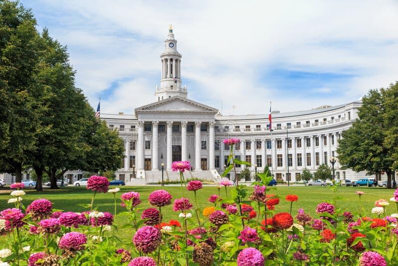 De ayuntamiento centro de la ciudad adentro de Denver imagenes de archivo