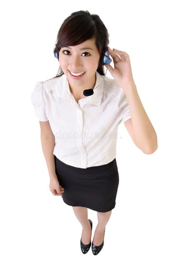 De Aziatische klantendienst stock afbeeldingen