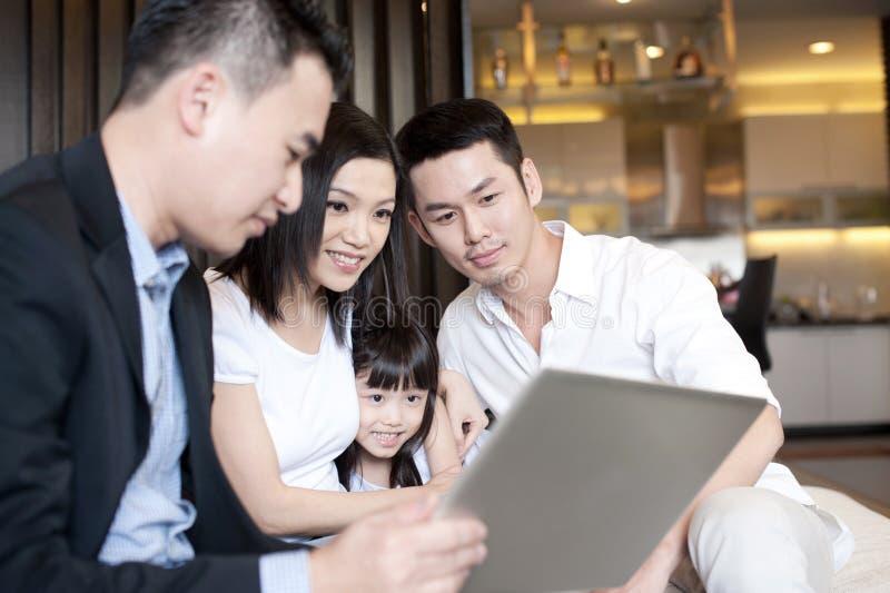De Aziatische Levensstijl van de Familie royalty-vrije stock afbeeldingen
