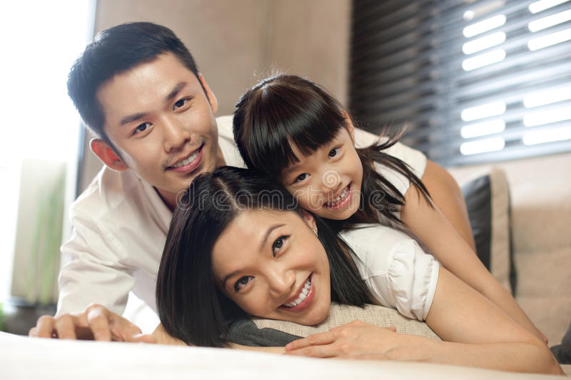 De Aziatische Levensstijl van de Familie royalty-vrije stock foto's