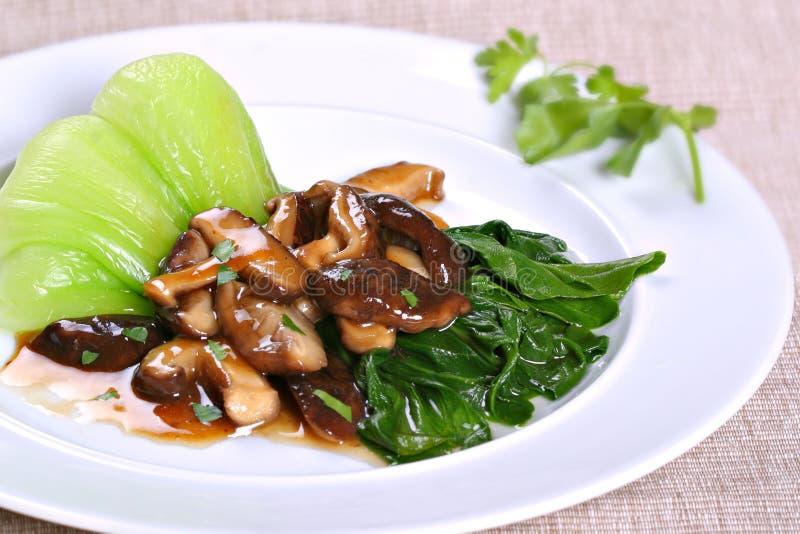 De Aziatische Vegetarische Schotel van de Paddestoel royalty-vrije stock afbeelding
