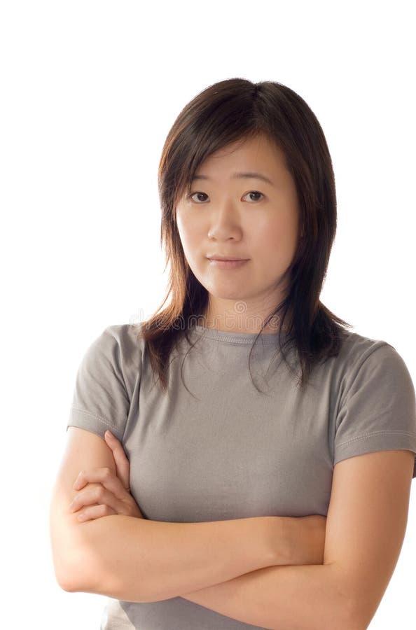 De Aziatische vrouw van de sport royalty-vrije stock fotografie