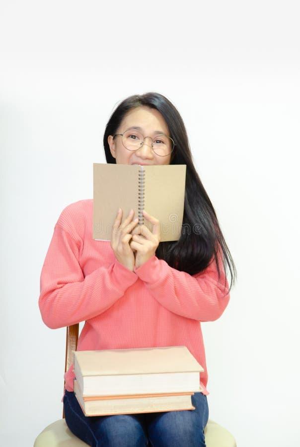 De Aziatische vrouwen glimlachen royalty-vrije stock fotografie