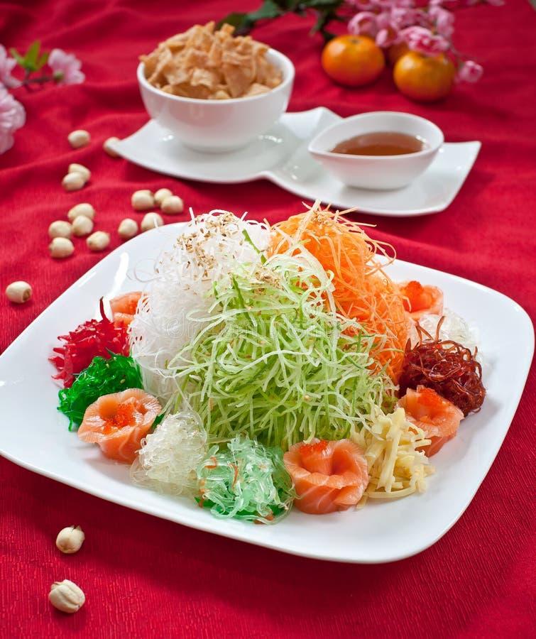 De Aziatische Welvaartworp, Lohei, Yusheng, yee zong stock fotografie