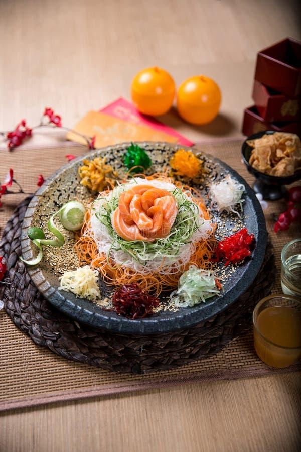 De Aziatische Welvaartworp, Lohei, Yusheng, yee zong royalty-vrije stock foto