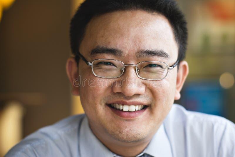 De Aziatische zakenman van het portret stock afbeeldingen