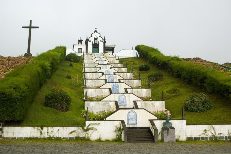 De Azoren, Kapel van Senhora Dos Milagres stock afbeelding