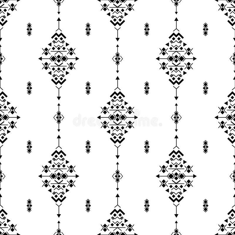 De Azteekse Amerikaanse Indische geometrische vectorachtergrond van patroon stammen etnische motieven Moderne inheemse Amerikaans vector illustratie