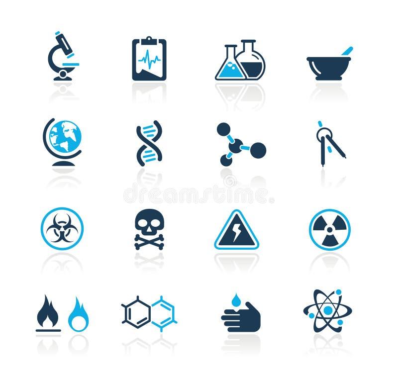 De Azuurblauwe Reeks van // van de wetenschap stock illustratie