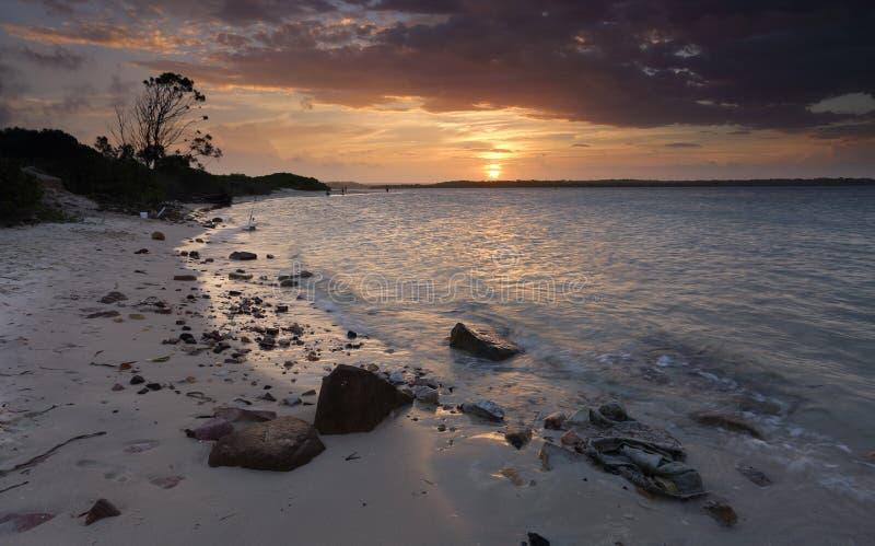 De Baai Australië van de zonsondergangplantkunde royalty-vrije stock foto