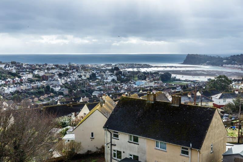 De baai dichtbij de stad royalty-vrije stock fotografie