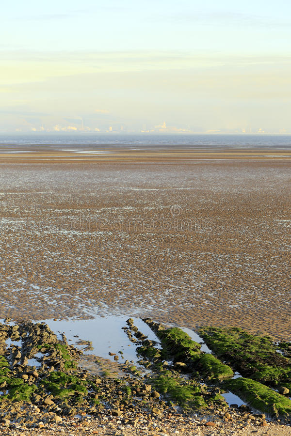 De Baai getijdevlakten van Swansea royalty-vrije stock afbeelding