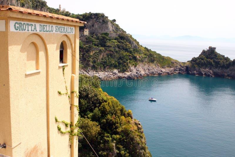 De baai Italië van Smeraldo van Grottadello stock afbeelding