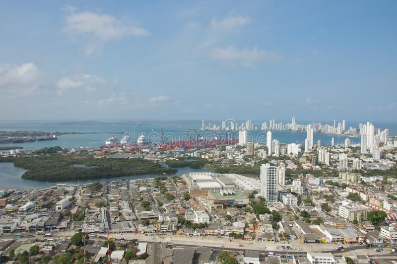 De Baai van Cartagena in Colombia royalty-vrije stock fotografie
