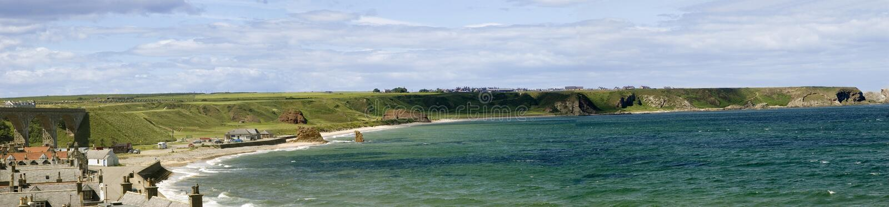 De Baai van Cullen, Schotland stock foto's