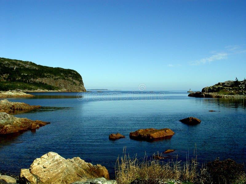 De Baai van de berging - Zeegezicht stock fotografie