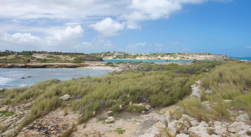 De baai van de duivels` s Brug - Caraïbische overzees - Antigua en Barbuda stock afbeelding