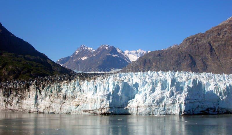 De Baai van de gletsjer in Alaska stock foto