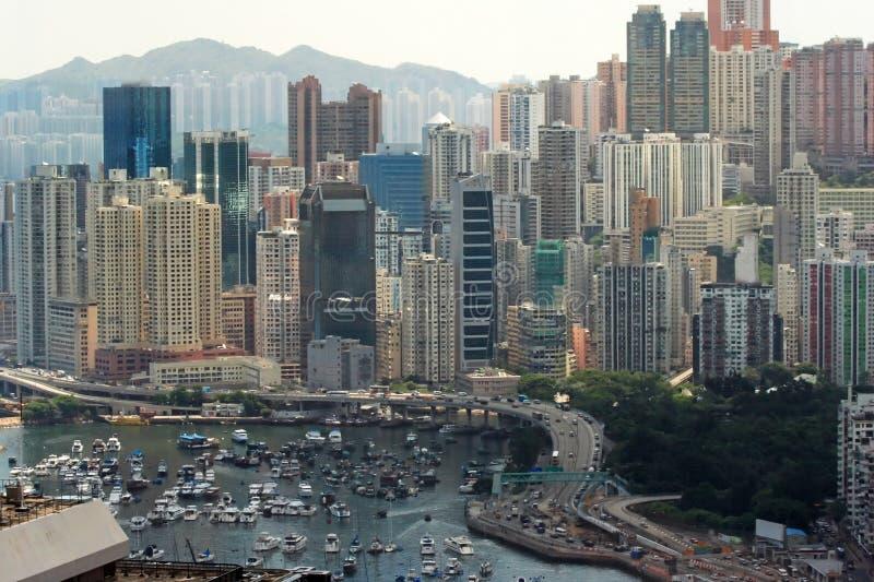 De Baai van de verhoogde weg, Hongkong. stock afbeelding