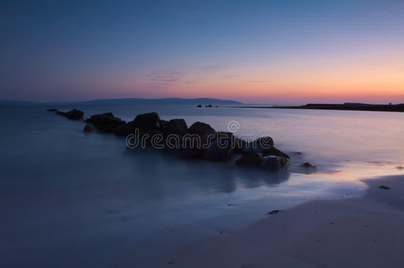 De Baai van Galway, Ierland stock afbeelding