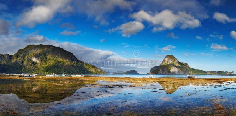 De baai van Gr Nido, Filippijnen stock afbeeldingen