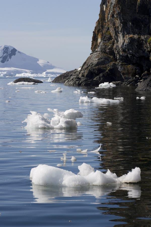 De Baai van het paradijs, Antarctica. stock foto