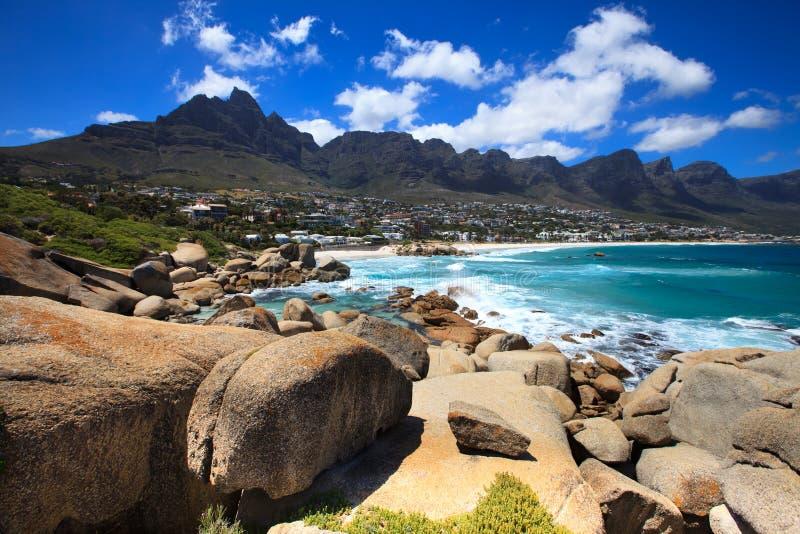 De Baai van kampen (Zuid-Afrika) stock afbeelding