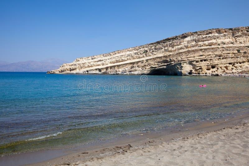 De baai van Matala stock afbeelding