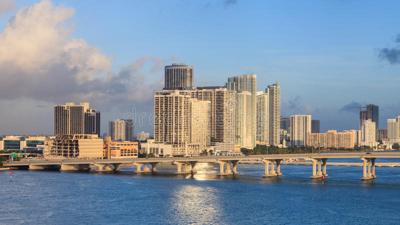 De Baai van Miami met Jetski stock fotografie