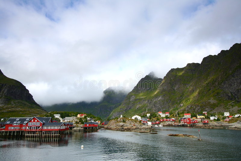 De baai van A in Noorwegen royalty-vrije stock fotografie