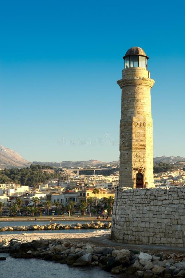 De baai van Rethymno. Kreta. stock foto's