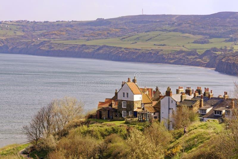 De Baai van Robin HoodÂ's in North Yorkshire, het UK royalty-vrije stock afbeelding