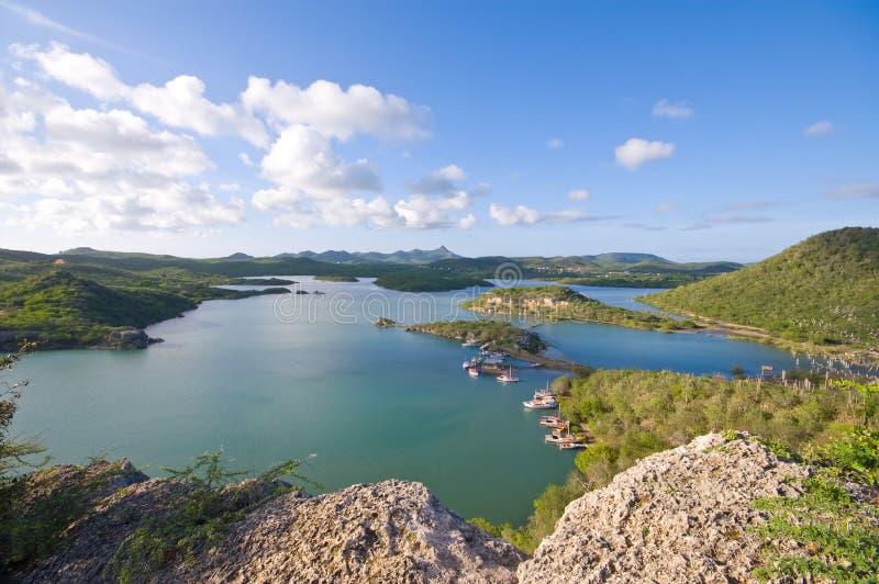 De baai van santamartha van het gezichtspunt royalty-vrije stock foto's