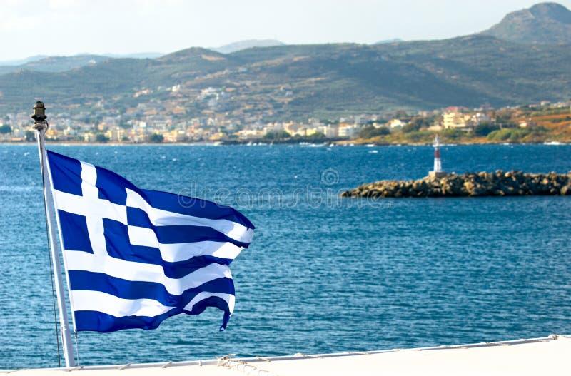 De baai van Souda. Kreta. Griekenland. royalty-vrije stock afbeelding