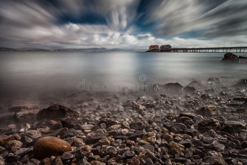 De Baai van Swansea bij mompelt royalty-vrije stock fotografie