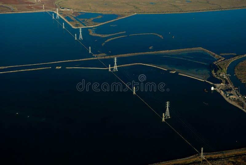 De baai van Vallejo van de lucht stock afbeelding