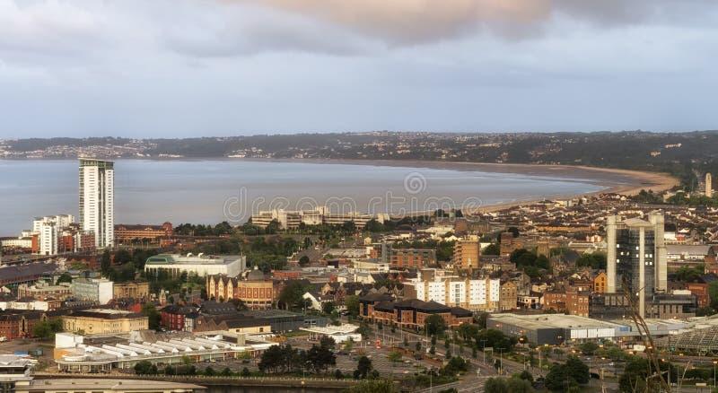 De Baai Zuid-Wales van Swansea stock afbeelding