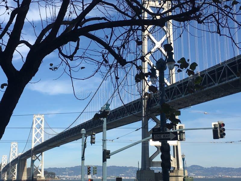 De Baaibrug van San Francisco-Oakland, langs Embarcadero royalty-vrije stock afbeeldingen