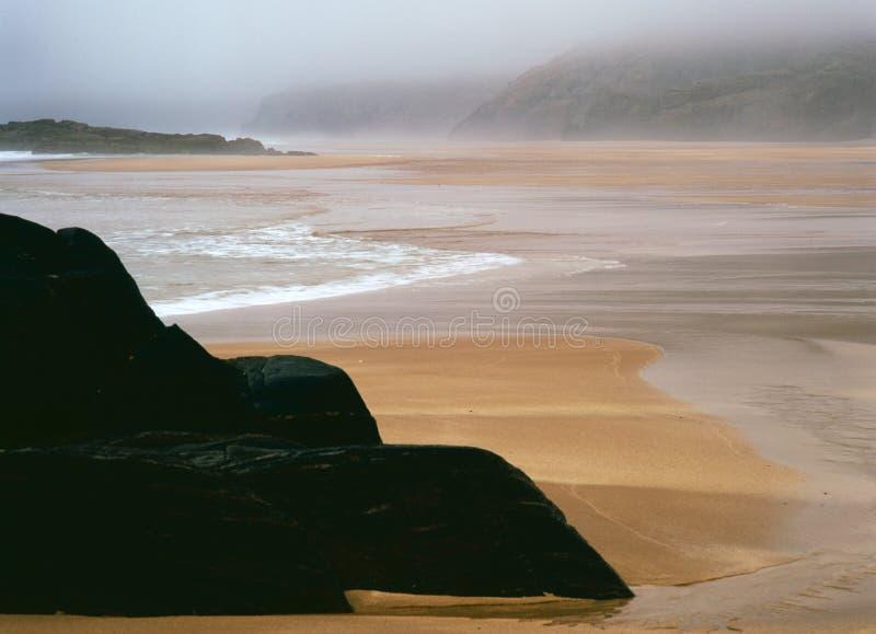 De baaistrand van Sandwood, Sutherland, Schotland stock fotografie