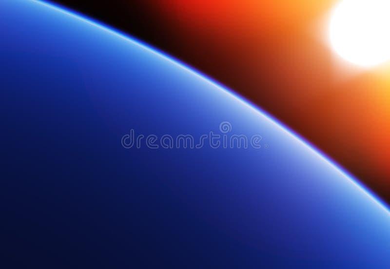 De baanachtergrond van de hoge hoogteplaneet royalty-vrije illustratie